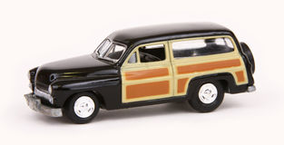 Mod Squad Woody. Chevrolet Woody Wagon, Johnny Lightning Hollywood on Wheels 1:64 scale diecast replica of the car used in the Mod Squad television series of the royalty free stock image