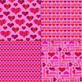 Mod valentines dnia wzory na menchiach ilustracji