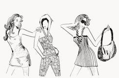 mod womans Obrazy Stock