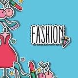 Moda łata modnego backgroun projekt ilustracji