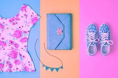 Moda Accesorios de la ropa fijados Equipo del verano Fotografía de archivo libre de regalías