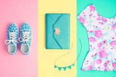 Moda Accesorios de la ropa fijados equipo mínimo Fotografía de archivo libre de regalías