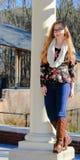 Moda adolescente de la muchacha-caída Imagenes de archivo