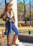 Moda adolescente 2 de la muchacha-caída Imágenes de archivo libres de regalías