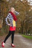 Moda adolescente en las bombas rojas Foto de archivo