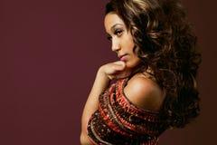 Moda afroamerykański model. Fotografia Royalty Free