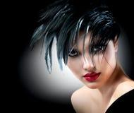 Moda Art Girl Portrait Fotografía de archivo