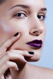 Moda Art Portrait. Maquillaje creativo Foto de archivo libre de regalías