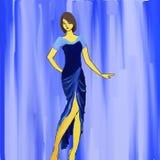 Moda azul Fotografía de archivo