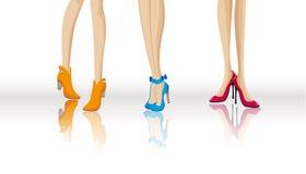 moda buty ilustracji