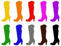 Moda buty - kobieta butów sylwetka royalty ilustracja