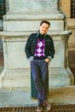 Moda casual del hombre joven en Nueva York Imagen de archivo