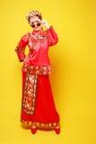 Moda Chińskiego stylu â€' â€' istota ludzka oblicza fotografię Obraz Stock