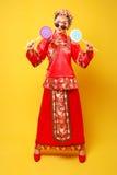 Moda Chińskiego stylu â€' â€' istota ludzka oblicza fotografię Zdjęcia Stock