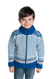 Młoda chłopiec w pulowerze Fotografia Stock