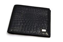 Moda czarny portfel zdjęcie stock