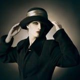 Moda de la mujer del vintage Foto de archivo