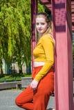 Moda de la primavera del adolescente en Nueva York Fotografía de archivo