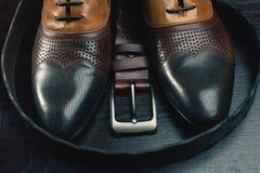 Moda de los hombres Accesorios de los hombres, aún vida Mirada del negocio Imágenes de archivo libres de regalías