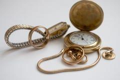 Moda de los relojes de oro vieja Fotografía de archivo libre de regalías