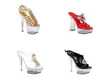 Moda de los zapatos de las mujeres Fotografía de archivo