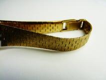 Moda de lujo de la pulsera del oro sólido Fotos de archivo libres de regalías