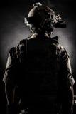 Moda del estilo de la parte posterior del hombre del soldado Foto de archivo libre de regalías