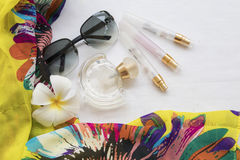 Moda del fondo de los accesorios de la mujer para el verano Foto de archivo libre de regalías