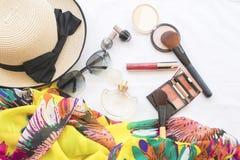 Moda del fondo de los accesorios de la mujer para el verano Imagen de archivo