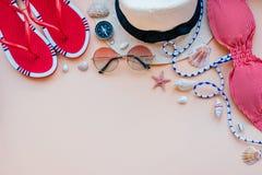 Moda del verano flatay Imagen de archivo