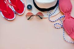 Moda del verano flatay Foto de archivo libre de regalías