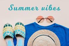 Moda del verano flatay Fotos de archivo