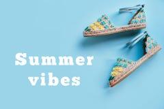Moda del verano flatay Imagen de archivo libre de regalías