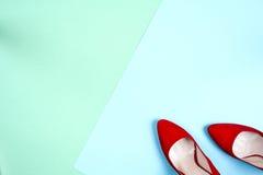 Moda, diversos zapatos de la hembra en los tacones altos Fotos de archivo