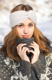 Moda dla zimnych dni Obraz Royalty Free