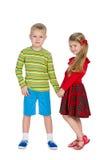 Moda dzieciaków stojak wpólnie Obrazy Stock