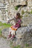 Młoda dziewczyna bierze selfie Obrazy Royalty Free