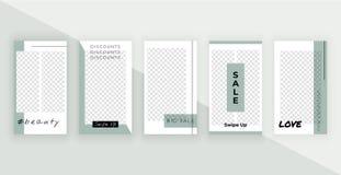 Moda editable szablony dla opowieści Nowożytny pokrywa projekt dla ogólnospołecznych środków, sztandary, ulotki, karty royalty ilustracja