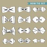 Moda fijada con la corbata de lazo Foto de archivo libre de regalías