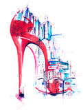 Moda i miasto Ilustracji