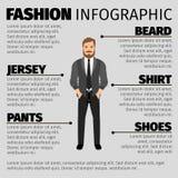 Moda infographic con el hombre del inconformista stock de ilustración