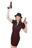 Młoda kobieta gangster Zdjęcia Royalty Free