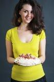 Młoda kobieta piekarz Obrazy Royalty Free