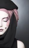 Młoda kobieta z kreatywnie makijażem Fotografia Royalty Free
