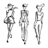 Moda kostiumu ilustracja Mody dziewczyny spacer ilustracji