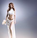 Moda krótkopęd Aphrodite projektująca młoda kobieta Obrazy Stock