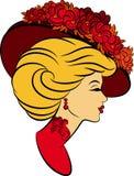 moda kwitnie dziewczyna kapelusz ilustracja wektor