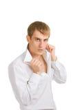 moda mężczyzna koszulowy biel Zdjęcia Royalty Free