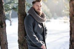 Moda mężczyzna w zimie Obraz Royalty Free