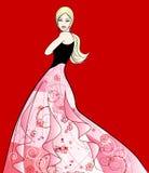 Moda młody model ilustracji